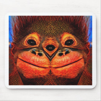 Psychedelic Three Eyed Monkey Mouse Pad