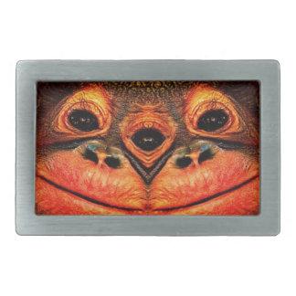 Psychedelic Three Eyed Monkey Rectangular Belt Buckles