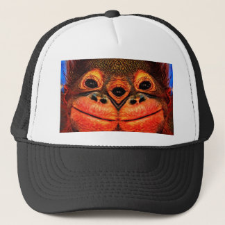Psychedelic Three Eyed Monkey Trucker Hat