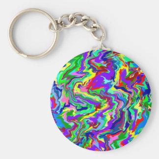 Psychedelic Tie Dye Keychain