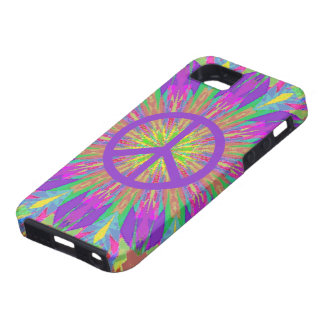 Psychedelic Tie Dye Peace Symbol iPhone 5 Case