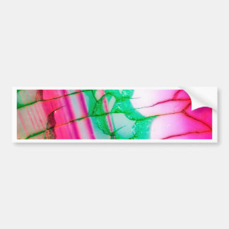 Psychedelic Tie Dye Quartz Bumper Sticker
