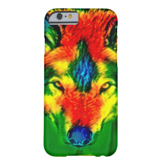 Psychedelic Tie Dye Wolf Wildlife iPhone 6/6s Case