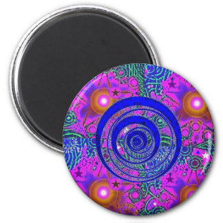 Psychedelic Time Warp Magnet