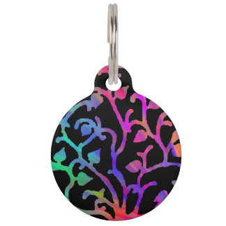 Psychedelic Tree of Life Pet Tags