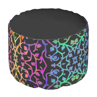 Psychedelic Tree of Life Pouf