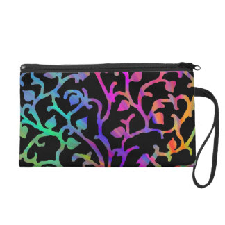Psychedelic Tree of Life Wristlet Purses