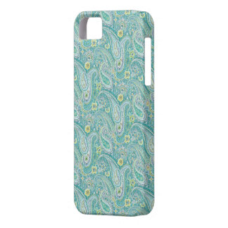 Psychedelic Turquoise Paisley Pattern iPhone 5 Cas Case For The iPhone 5