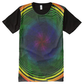 Psychedelic Twirl All-Over Print T-Shirt