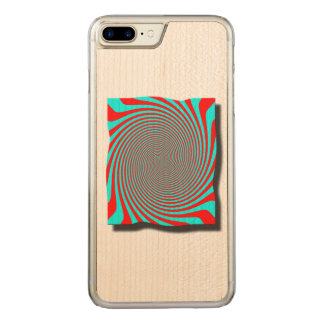 psychedelic twirl carved iPhone 8 plus/7 plus case