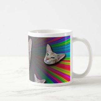 Psychedelic Tye Die Cat Coffee Mug