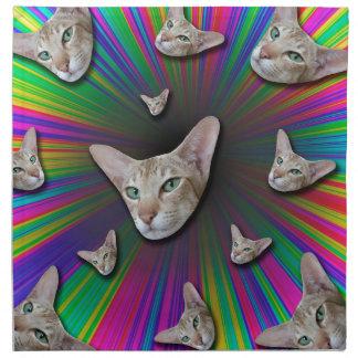 Psychedelic Tye Die Cat Napkin