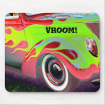psychedelic vintage car closeup