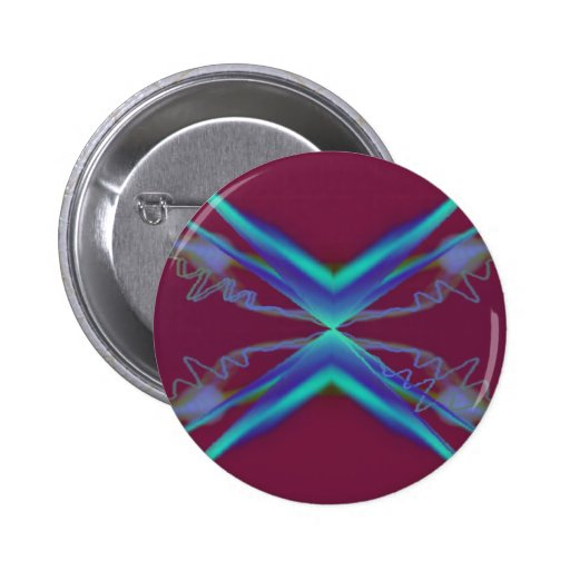 Psychedelic visuals pinback button
