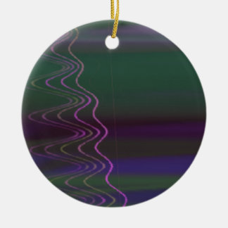 Psychedelic Visuals Double-Sided Ceramic Round Christmas Ornament