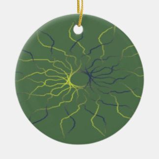 Psychedelic Visuals Christmas Tree Ornaments