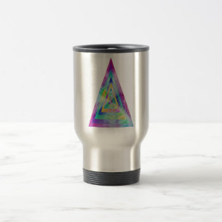 Psychedelic Water-color Triangle Illustration Mug