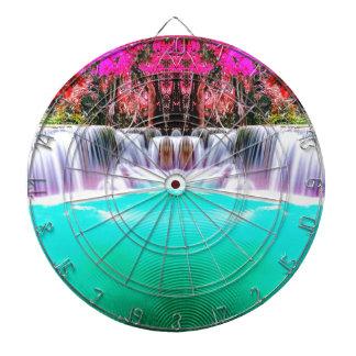 Psychedelic Waterfall Dartboard