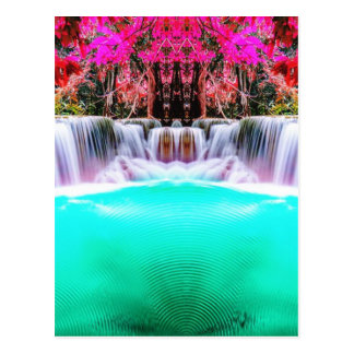 Psychedelic Waterfall Postcard