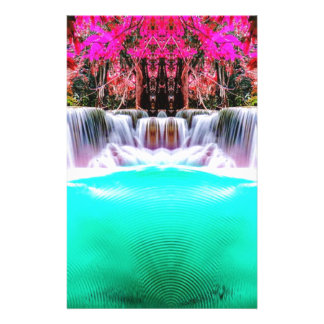 Psychedelic Waterfall Stationery Paper