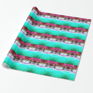 Psychedelic Waterfall Wrapping Paper