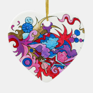 Psychedelic Wave Ceramic Ornament