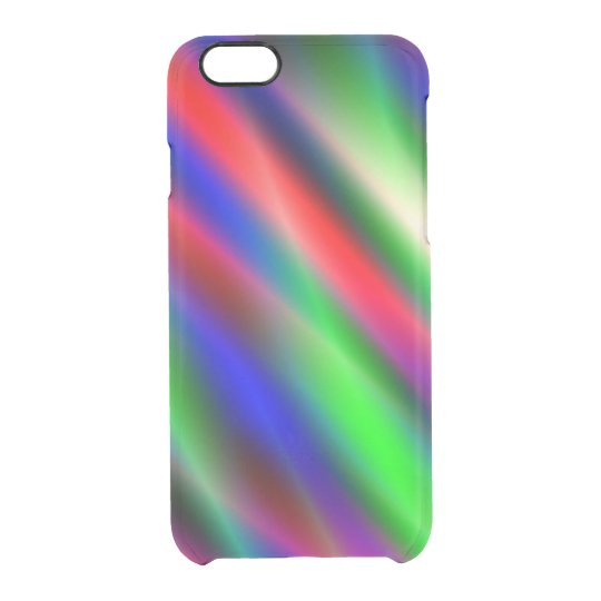 Psychedelic Waves Clear iPhone 6/6S Case