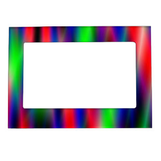 Psychedelic Waves Magnetic Picture Frame