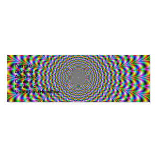 Psychedelic Web Double-Sided Mini Business Cards (Pack Of 20)