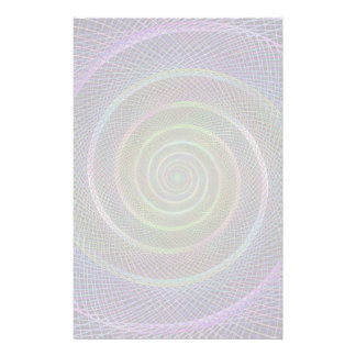 Psychedelic Webbed Spiral Customized Stationery