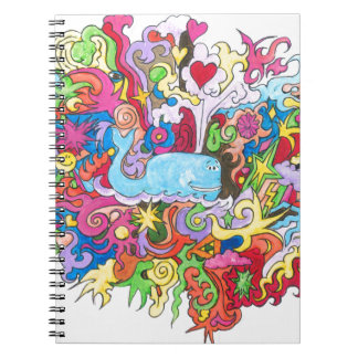 Psychedelic Whale Spiral Notebook