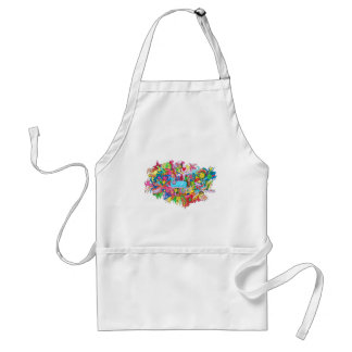 Psychedelic Whale Standard Apron