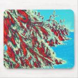 psychedelic winter landscape mousepad