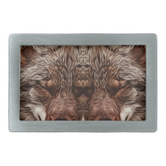 Psychedelic Wolf Belt Buckle
