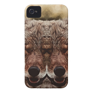 Psychedelic Wolf iPhone 4 Case