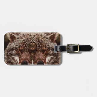 Psychedelic Wolf Luggage Tag