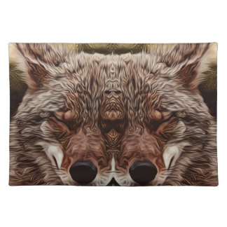 Psychedelic Wolf Placemat