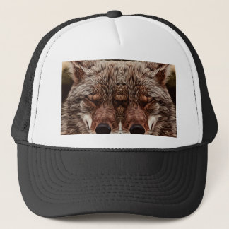 Psychedelic Wolf Trucker Hat