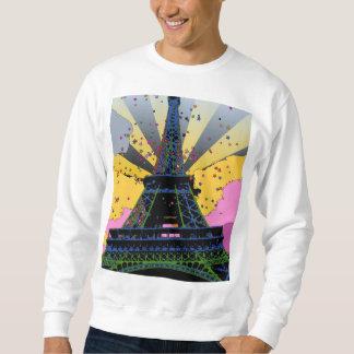 Psychedelic World: Eiffel Tower, Paris France A1 Sweatshirt