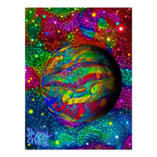 Psychedelic World Sgin Poster