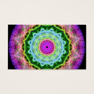 Psychedelic Wormhole kaleidoscope Business Card