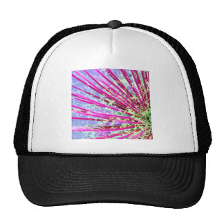 Psychedelic Yucca Abstract Red Cap