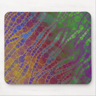 Psychedelic Zebra Abstract Pattern Mouse Pad