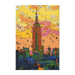 Psychedlic NYC: Empire State Building #1 Gallery Wrapped Canvas