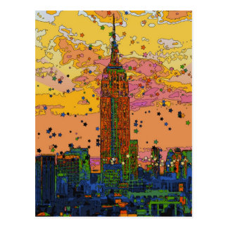 Psychedlic NYC: Empire State Building #1 Postcard