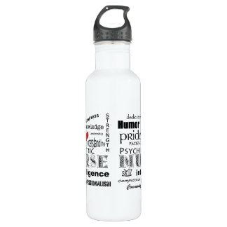 Psychiatric Nurse-Attributes/Red Heart 710 Ml Water Bottle