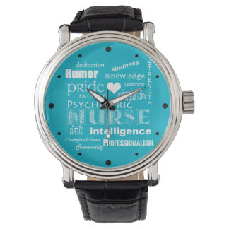 Psychiatric Nurse Pride-Attributes/White Heart Watch