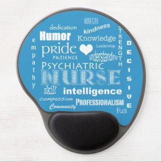 Psychiatric Nurse Pride+Heart/Blue Gel Mouse Pad