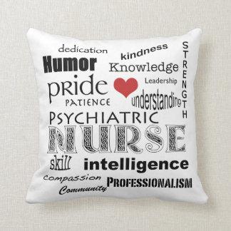 Psychiatric Nurse Pride+Heart Cushion