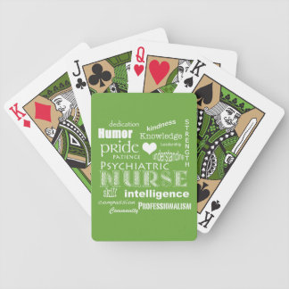 Psychiatric Nurse Pride-/Lime Green Bicycle Playing Cards